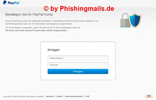 Wichtige Mitteilung - Paypal Phishing